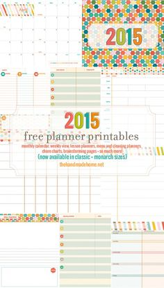Excellent Planner by Handmade home and they now have the 2015 version! free planner and calendar + more - the handmade home To Do Planner, 2015 Planner, Free Planner, Planner Pages, Printable Planner, Planner Stickers, Free Printables, Blog Planner, Family Planner
