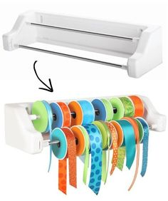 #37. Ribbon Organizer -- 55 Genius Storage Inventions That Will Simplify Your Life -- A ton of awesome organization ideas for the home (car too!). A lot of these are really clever storage solutions for small spaces.