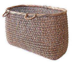 Antique Japanese Akebia Vine Gathering Basket