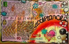 journaling, color, mixed media