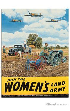 image of Women's Land Army Farm Tin Sign