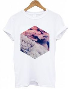REFERENTES: Diseño Gráfico + Diseño Geométrico + Fotografía   Smoke Hex Hipster T Shirt for Women