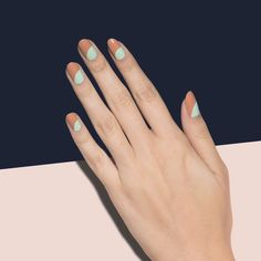 Spotlighting Bunny Slope: an effortlessly chic, two-toned mani.