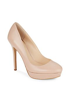Niomi Leather Platform Pumps
