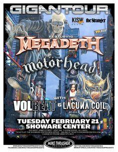 Gigantour ~ Megadeth, Motorhead, Volbeat, Lacuna Coil !!!! I went to see that tour