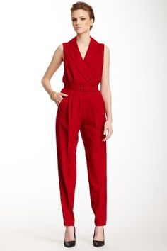 Edith II Wool Suiting Jumpsuit