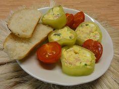 Jak připravit papriky plněné vaječnou pomazánkou | recept Eggs, Breakfast, Food, Morning Coffee, Essen, Egg, Meals, Yemek, Egg As Food
