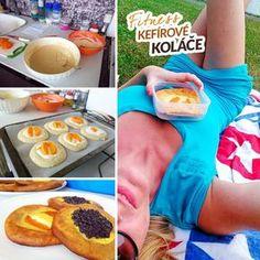 Fitness kefírové koláče bez kynutí zdravý recept Bajola Great Recipes, Snack Recipes, Healthy Recipes, Kefir, Mashed Potatoes, Food Porn, Food And Drink, Chips, Low Carb