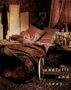 Candlelit and sexy indeed... a sensuous Bohemian themed bedchamber.  ~Splendor