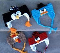 Feathered Fowl Earflap - pattern by Snappy Tots