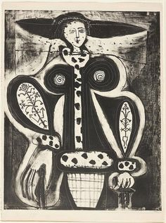 PICASSO, Femme au fauteuil, 1948