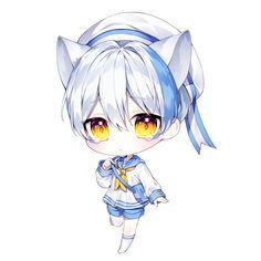 Cute Anime Chibi, Kawaii Chibi, Cute Anime Boy, Kawaii Art, Kawaii Anime Girl, Anime Soul, Anime Art, Character Art, Character Design