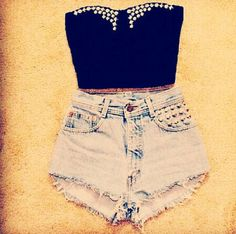 crop top outfit. . YES. . . .♥♥♥