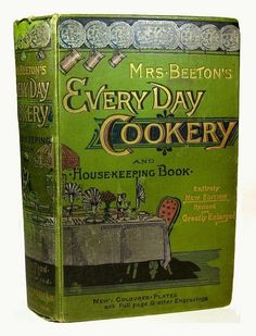 ANTIQUE COOKBOOK Mrs. Beeton's 1893 Victorian RECIPES Vintage COOKERY Old RARE