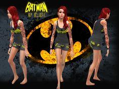 #Sims4 | Eloute's Batman Sleepwear set