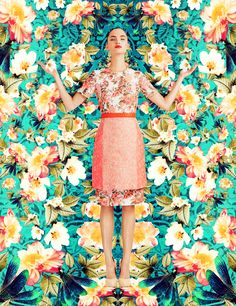 fashion editorials, shows, campaigns & more!: dazzling garden: dalia guenther by ami lafleur for vision china june 2013 Floral Fashion, Fashion Prints, Editorial Photography, Fashion Photography, Learn Photography, Photography Tutorials, Cheap Prom Dresses Uk, Wedding Dresses, Camouflage