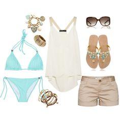 """Aqua Outfit"" by coastalstyleblogspot on Polyvore"