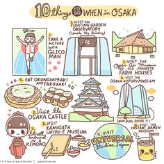 Are you planning to visit Osaka soon? This might help you! :) Kawaii Cr: Littlemisspaintbrush