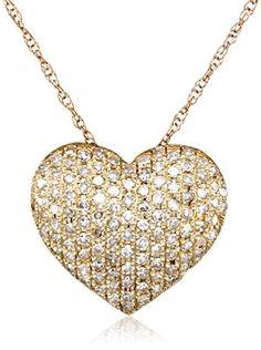 Sterling silver and 14k yellow gold diamond winged halo heart sterling silver and 14k yellow gold diamond winged halo heart pendant necklace 18 jewelry pinterest halo yellow and pendants aloadofball Choice Image