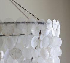 Capiz shell chandelier by CatonaLimb, via Flickr