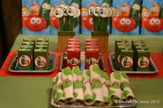 "Photo 1 of 12: VeggieTales, Veggie Tales, red, green / Birthday ""Wilson's VeggieTales Party""   Catch My Party"