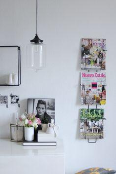 Madam Stoltz Magazinhalter Zeitschriftenhalter für die Wand
