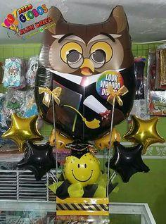 Diy Graduation Gifts, Graduation Party Decor, 21st Birthday Basket, Balloon Flowers, Flower Basket, Pink Candy, Balloon Decorations, Congratulations, Mosaic