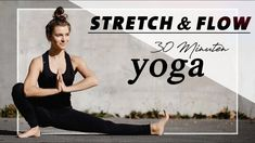 Yoga for flexibility Stretch Flow Deep stretches and new postures Intermediate Yoga for flexibility Stretch Flow Deep stretches and new postures Intermediate YouTub. Vinyasa Yoga, Bikram Yoga, Ashtanga Yoga, Iyengar Yoga, Fitness Workouts, Yoga Fitness, Partner Yoga, Yin Yoga, Yoga Challenge