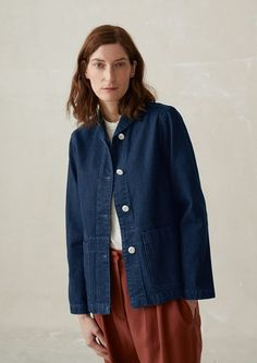 Ikat jackets, wrap jackets, smart jackets, workwear jackets, indigo denim jackets and wool coats. Simple Outfits, Casual Outfits, Jackets For Women, Clothes For Women, Minimal Fashion, Work Wear, Womens Fashion, How To Wear, Workwear Women