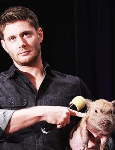 Pig 'n a Poke! #Supernatural  funny, that's what he ordered for breakfast on the Tuesday that kept repeating !!