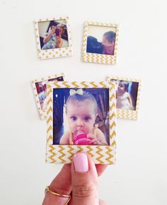 DIY Polaroid Magnets for Mother's Day