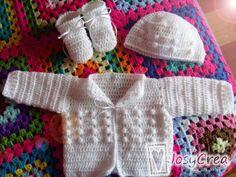*.:。✿JosyCrea✿.。.:* Tejido a Crochet y Más!: Ajuar blanco tejido a crochet