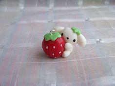 Fimo Berry puppy giant strawberry by ~CuteTanpopo on deviantART