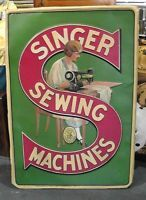 Vintage Singer Sewing Machine Double Sided Enamel porcelain Sign Board Made USA Treadle Sewing Machines, Antique Sewing Machines, Vintage Sewing Patterns, Old Posters, Vintage Posters, Sewing Art, Sewing Rooms, Vintage Advertisements, Vintage Ads