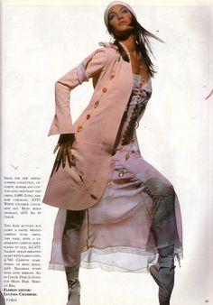 Claudia Mason wears Chloé by Lagerfeld. Shot by Tyen for UKVOGUE, January 1993