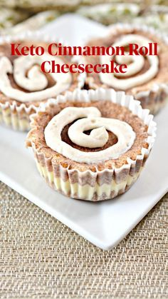 Gluten Free Recipes, Low Carb Recipes, Baking Recipes, Real Food Recipes, Dessert Recipes, Healthy Recipes, Diet Cheesecake Recipe, Cinnamon Roll Cheesecake, Keto Cookies