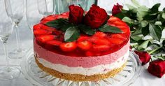 Cute Cakes, Yummy Cakes, Finnish Recipes, No Bake Desserts, Cheesecakes, No Bake Cake, Deserts, Food And Drink, Fruit