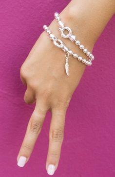 Silver Charm Bracelet by NewHabitJewelry on Etsy #CharmBracelet #CustomSilverBracelet #SterlingSilverBracelet