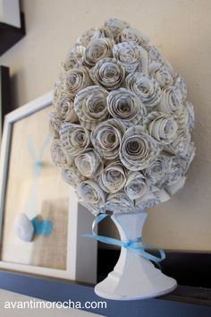 DIY Easter Topiary   Topario de Pascua Topiary, Kugel, Diy Projects To Try, Creative, Easter Ideas, Home Decor, Easter, Blue Prints, Easter Activities