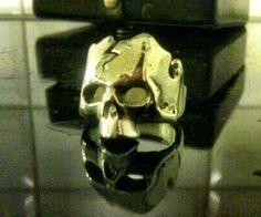 Silver skull ring by DeAblo Design