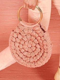 Ulla Jhonson resort 2019 - Bags and Purses 👜 Crochet Eyes, Love Crochet, Beautiful Crochet, Knit Crochet, Crochet Handbags, Crochet Purses, Crochet Designs, Crochet Patterns, Crochet Market Bag