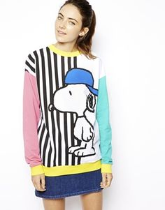 ASOS Sweatshirt with Skater Snoopy Stripes....anyone wanna buy me a early bday gift?