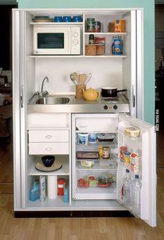 Quiero esta cocina aunque no la necesite: //  Mini kitchen for the studio apartment