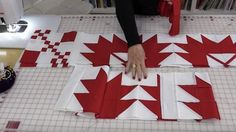 Bold Graphic Statement Quilt Tutorial This quilt would look great in many color combinations although I really love the red and white don t you This quilt nbsp hellip Flag Quilt, Boy Quilts, Quilt Blocks, Patriotic Quilts, Quilting Tips, Quilting Tutorials, Quilting Projects, Yarn Projects, Quilting Fabric