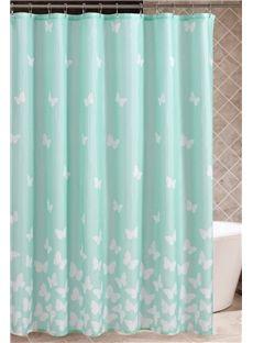 European Style Butterfly Waterproof Shower Curtains
