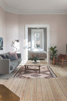 pink living room with gray sofa # living room decoration pink living room with gray sofa - Wohnaccessoires Ideen Living Room White, Cozy Living Rooms, Living Room Sofa, Home And Living, Living Room Decor, Living Room Planner, Modul Sofa, Living Room Inspiration, Interior Design