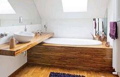 Fa a fürdőszobában - környezetbarát, gyönyörű és időtálló, a dizájnról és a hangulatról nem beszélve!