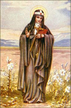 Bridget of Sweden, mystic and saint and founder of the Bridgettines nuns and monk. Patron saint of Europe, Sweden and widows. Catholic News, Catholic Art, Catholic Saints, Patron Saints, Roman Catholic, Religious Art, St Brigid, St Bridget Of Sweden, Catholic Confirmation