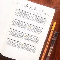 Bullet journal monthly habit tracker. | @theyellowbulletjournal