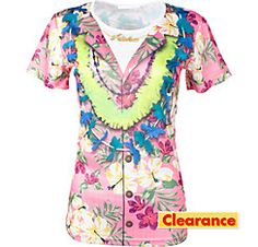 Pink Hawaiian T-Shirt  Party City